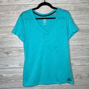 Adidas EUC Light weight fabric. V neck S/S size M